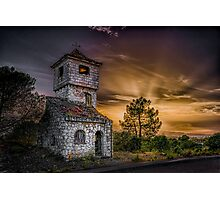 Haunted house at dusk Photographic Print