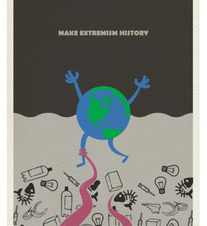 Make extremism history Sticker