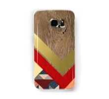 Gold Geometric Wood Samsung Galaxy Case/Skin