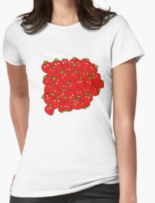 Strawberry Cluster Womens Fitted T-Shirt