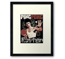 THE PING PONG MASTER Framed Print
