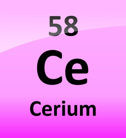Cerium Periodic Table Element Symbol Sticker