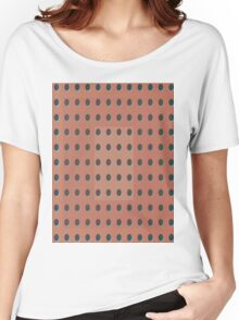 Pattern 031 Dots, Inverted Peach Black Women's Relaxed Fit T-Shirt