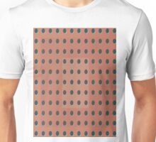 Pattern 031 Dots, Inverted Peach Black Unisex T-Shirt