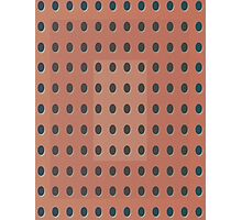 Pattern 031 Dots, Inverted Peach Black Photographic Print