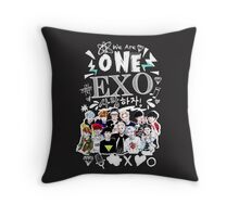 EXO We Are One! Black Version Throw Pillow