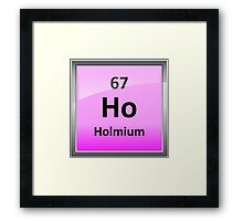 Holmium or Ho Periodic Table Element Symbol Framed Print