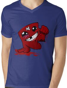 Happu Super Meat Boy Mens V-Neck T-Shirt