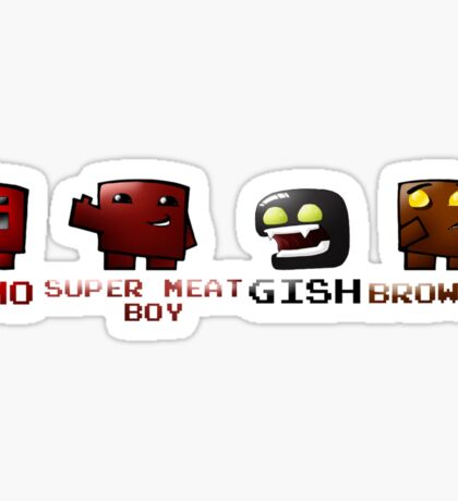 Super Meat Boy Crew Sticker