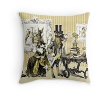 Mr. October and the troubles with Snapdragons Throw Pillow