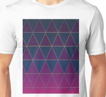 Pattern 032 Medieval Triangle Purple Blue Patterns Unisex T-Shirt
