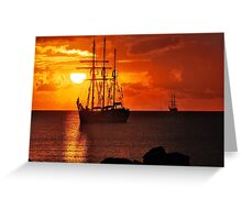 Were the pirates coming? Greeting Card