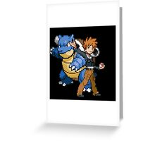 Blue and Blastoise Greeting Card