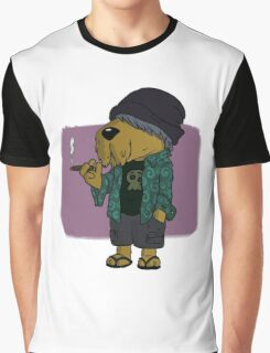 Chilled Hipster Dog Graphic T-Shirt