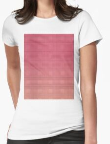 Pattern 033 Pink and dark blue dots Womens Fitted T-Shirt