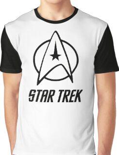 -MOVIES- Star Trek Logo Graphic T-Shirt