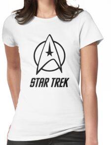 -MOVIES- Star Trek Logo Womens Fitted T-Shirt