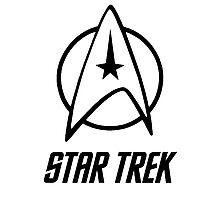 -MOVIES- Star Trek Logo Photographic Print