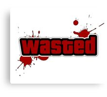 -GEEK- GTA Wasted Canvas Print