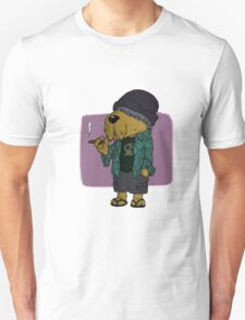 Chilled Hipster Dog Unisex T-Shirt