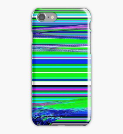 Linear Green Abstract iPhone Case/Skin