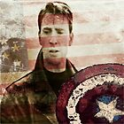 Vintage Soldier with flag by LadyThor