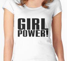 Girl Power (Black) Women's Fitted Scoop T-Shirt