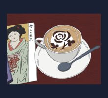 Rose Latte and Lady in Kimono Kids Tee