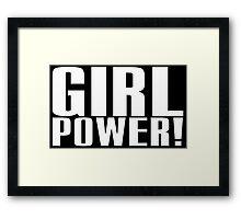 Girl Power (White) Framed Print