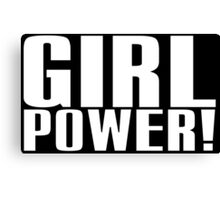 Girl Power (White) Canvas Print