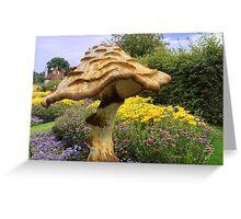 English Giant Toadstool Greeting Card