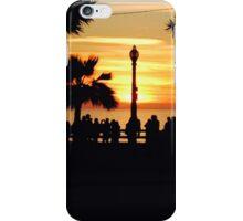 Santa Monica Pier Sunset iPhone Case/Skin