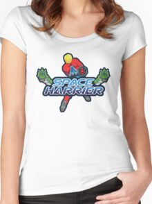 SPACE HARRIER CLASSIC ARCADE GAME Women's Fitted Scoop T-Shirt