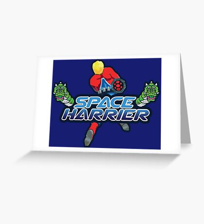 SPACE HARRIER CLASSIC ARCADE GAME Greeting Card