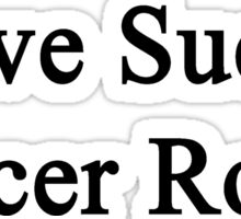 Love Sucks Soccer Rocks Sticker