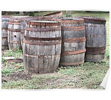 Six Wine Barrels Poster
