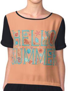 Hello summer orange  Chiffon Top