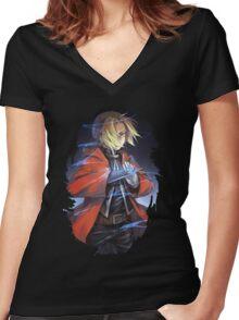 Fullmetal Alchemist Edward Elric Women's Fitted V-Neck T-Shirt