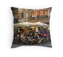 Barcelona restaurant Throw Pillow