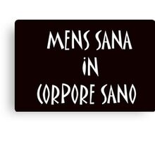 """Mens sana in corpore sano"" Yoga and Sport Collection Canvas Print"