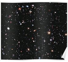 Hubble, Nasa, Extreme Deep Field image, space, constellation, Fornax Poster