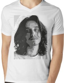 Pouya - Black & White Mens V-Neck T-Shirt