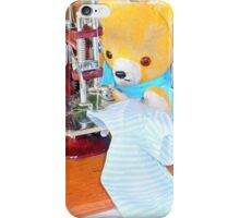 Fred Bear mends his torn shirt iPhone Case/Skin
