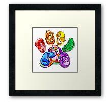 Rainbow Beans! Framed Print