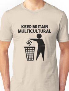 Keep Britain Tidy Parody Multicultural Antifascist Unisex T-Shirt