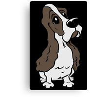 Spaniel cartoon dog Canvas Print