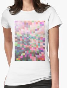 Pattern 038 Multi Color Rainbow Pinch Womens Fitted T-Shirt