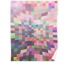 Pattern 038 Multi Color Rainbow Pinch Poster