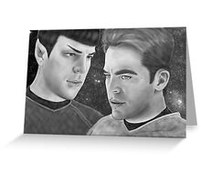 Kirk and Spock- Spirk Greeting Card
