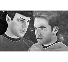 Kirk and Spock- Spirk Photographic Print